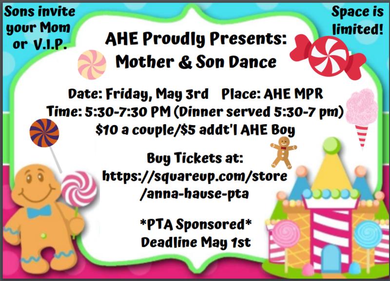 mother/son dance info