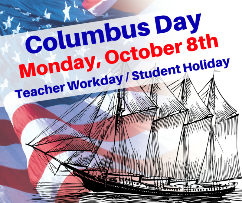 Columbus Day - Student Holiday & Staff Workday Thumbnail Image