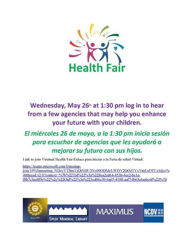 Virtual Mini Health Fair/Feria de Salud virtual Featured Photo