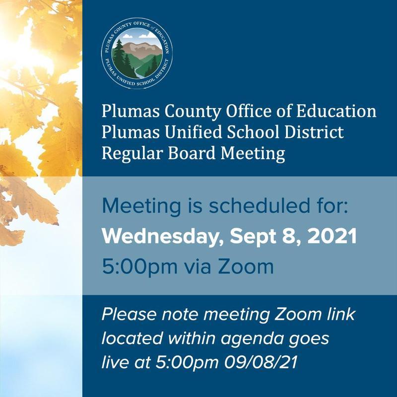 PUSD Board Meeting Agenda 9/8/21