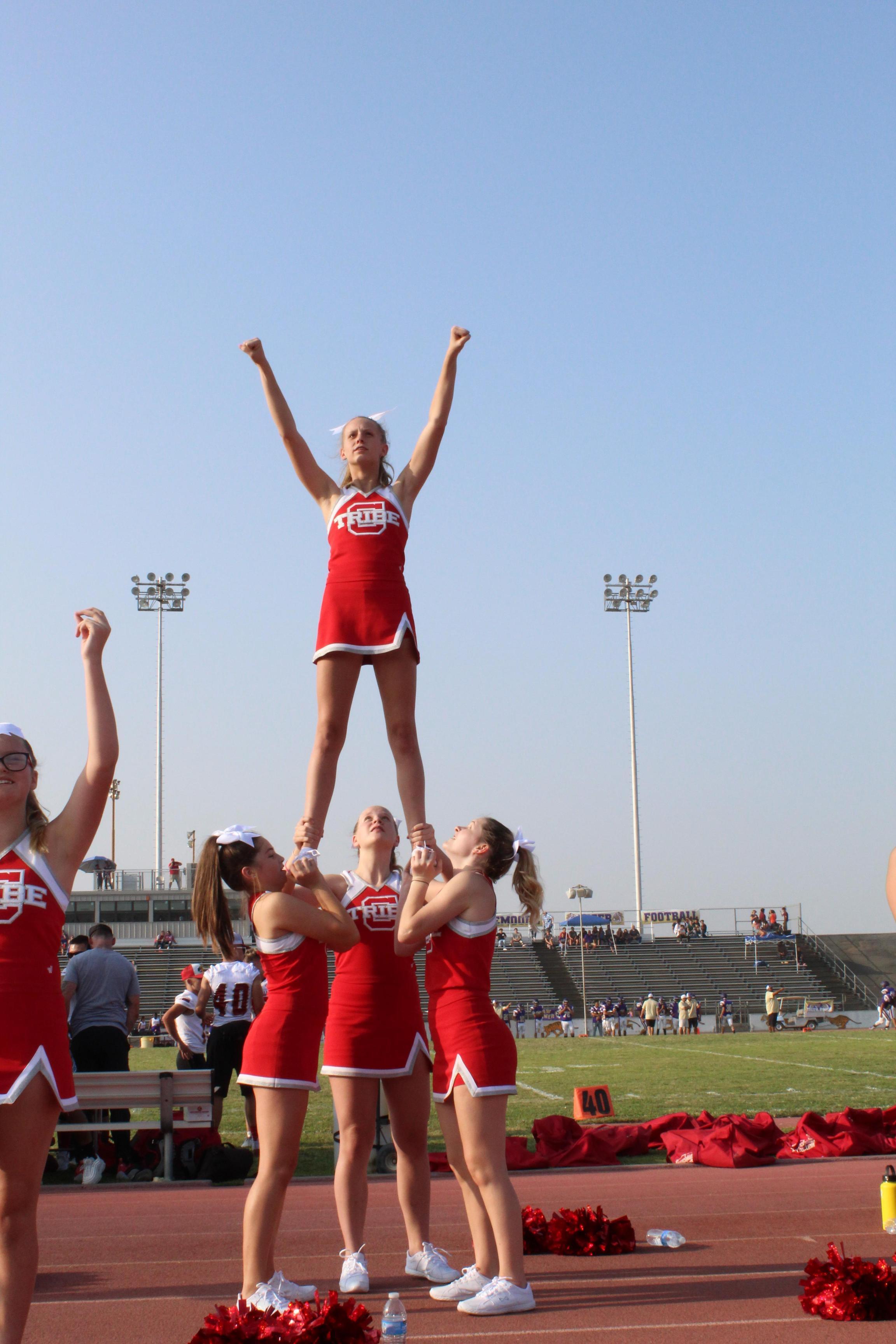 Cheerleaders at Lemoore