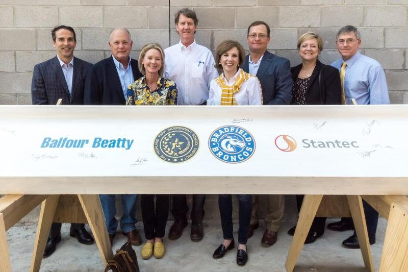 New Bradfield Elementary celebrated with topping out ceremony Featured Photo
