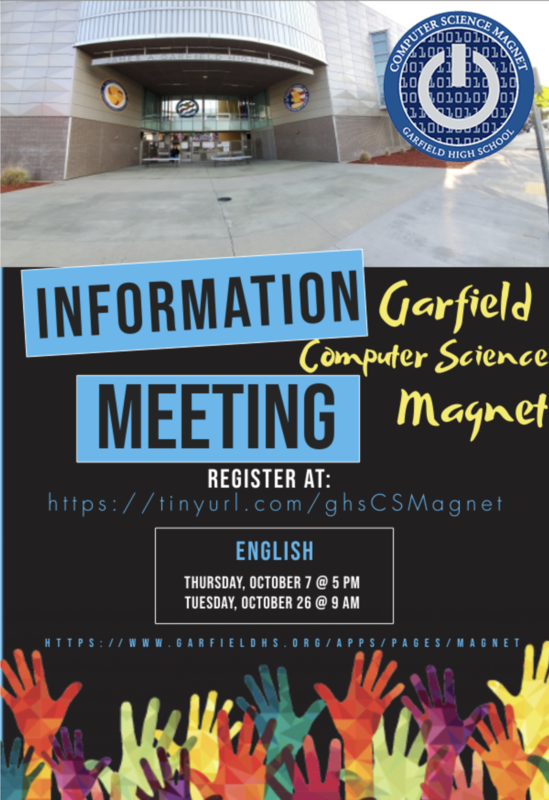 GHS Computer Science Informational Meeting