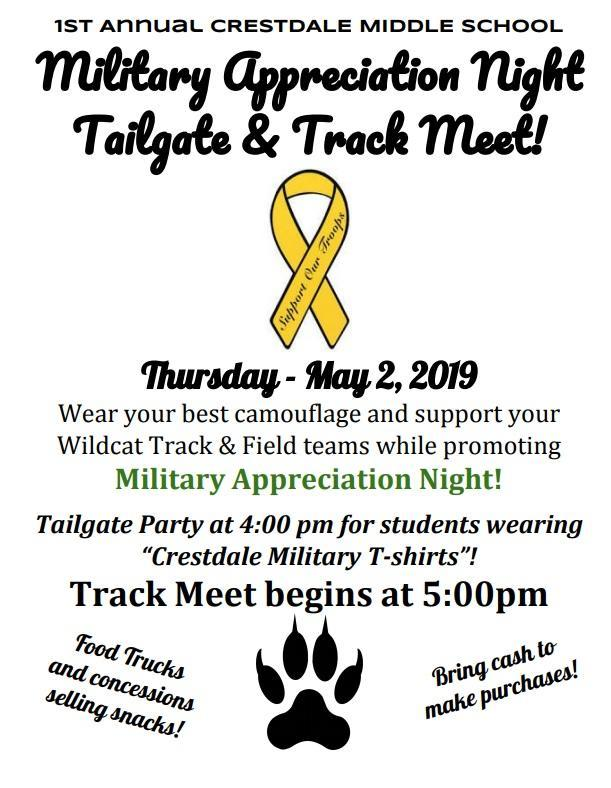 military appreciation night flyer