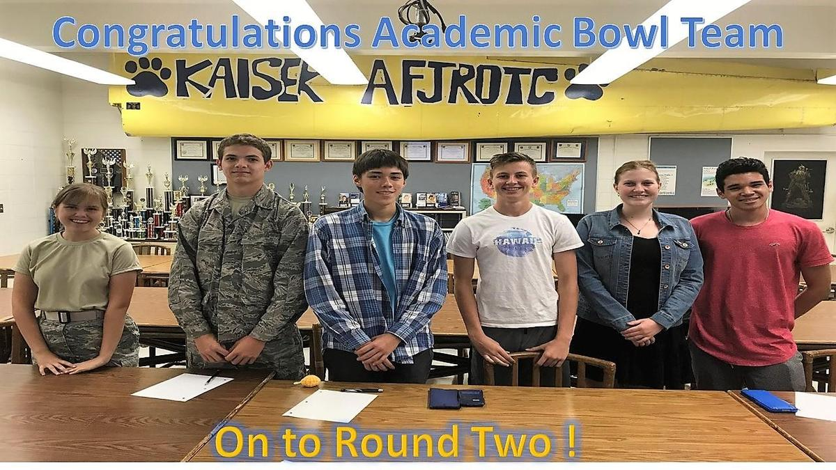 AFJROTC Academic Bowl team members