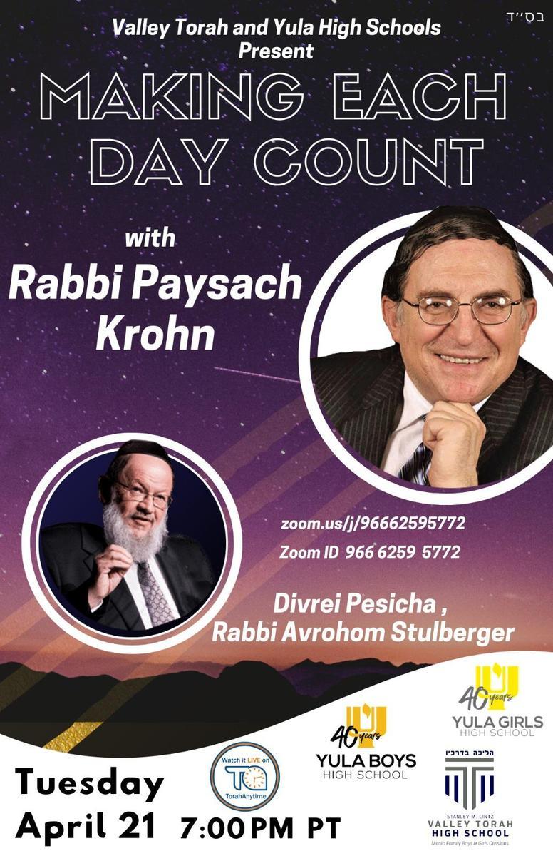 Paysach Krohn Week 4