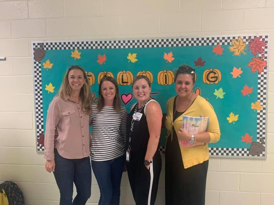 PTA representatives with Mrs Rogers