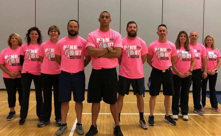 WHS Pink Out Phys Ed Staff