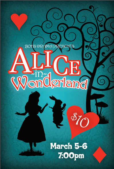 BOHS Drama Presents ALICE IN WONDERLAND
