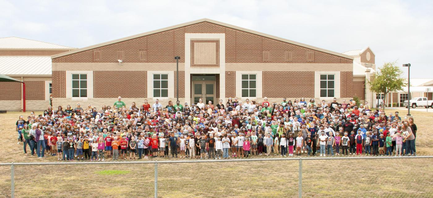 picture of the entire student body and staff