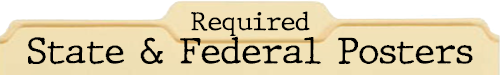 Required State and Federal Posters file folder