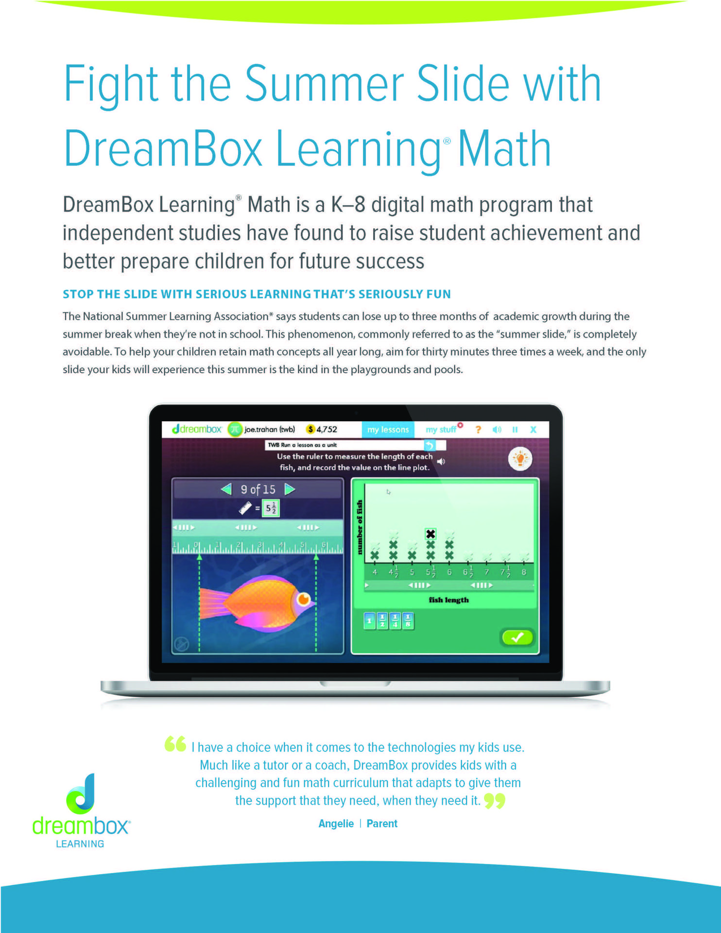 DreamBox Learning Math Page 1