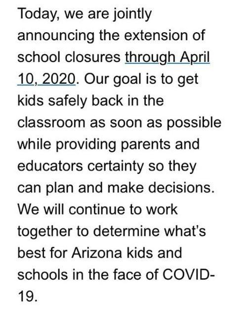 No school till April 10th