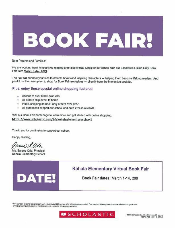 Scholastic Book Fair March 1-14, 2021