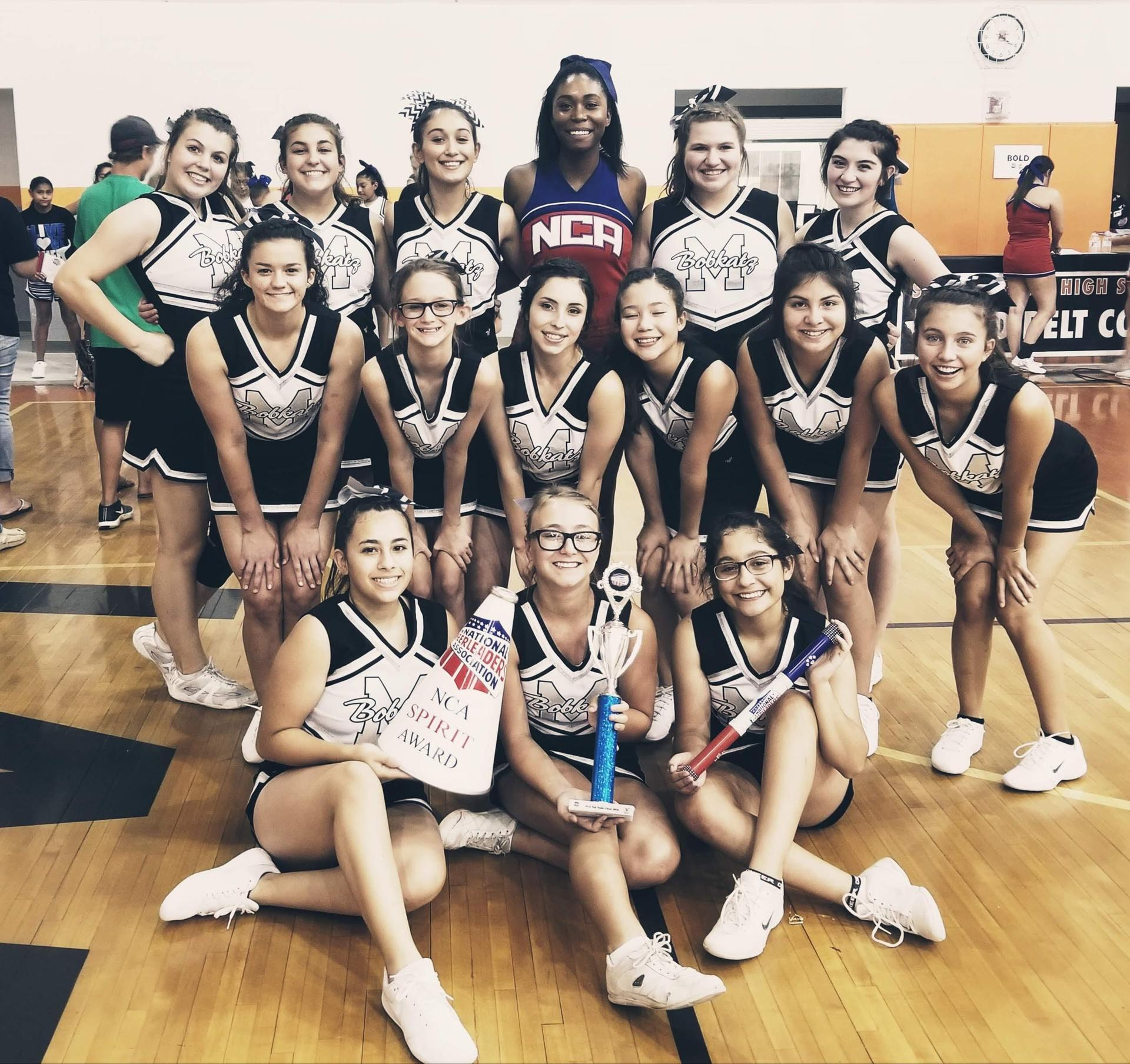 Cheerleaders at camp