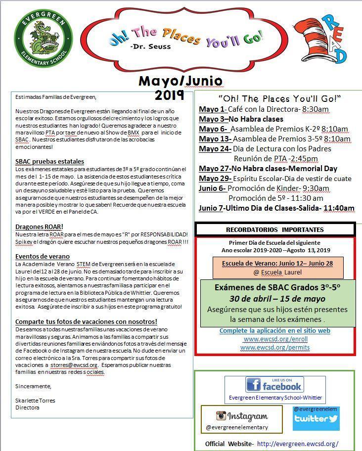 May Dragon Times Spanish