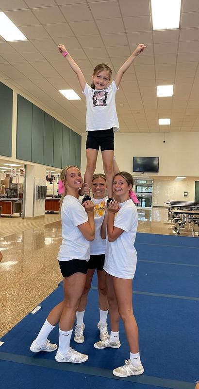 camper learns a cheer