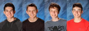 four boys in school photos