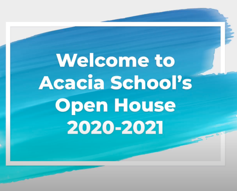 Welcome to Acacia School's Open House