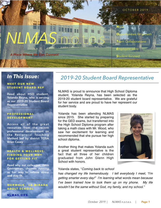 NLMAS n.o.t.e.s for October 2019 Featured Photo