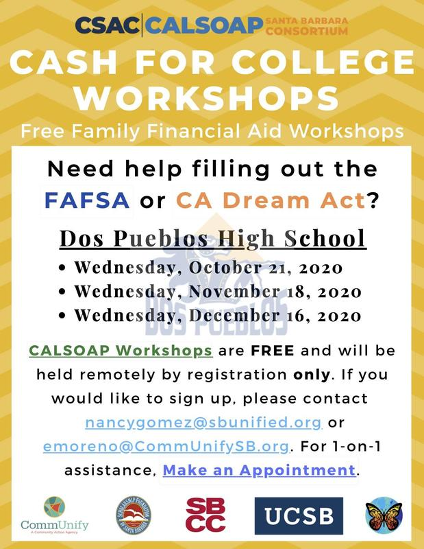 Cash for College Workshops / Talleres De Cash for College Featured Photo