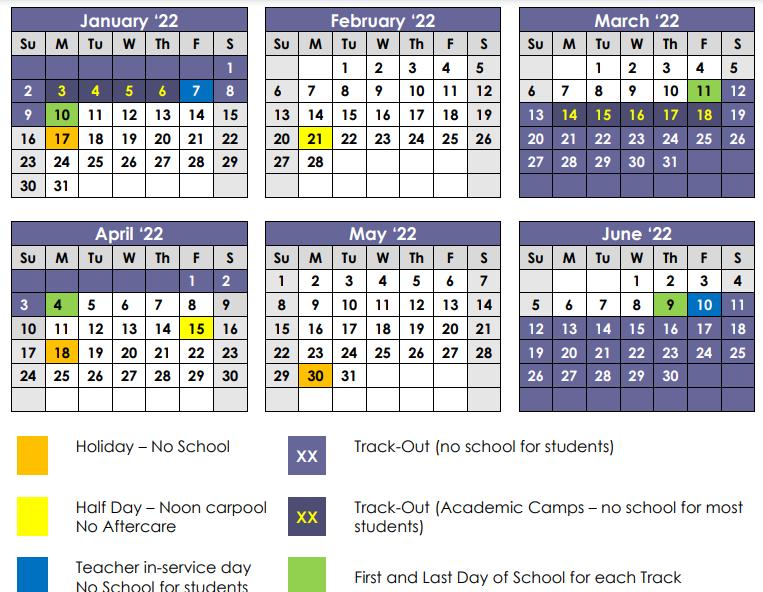 2021-2022 Academic Calendar Pt 2