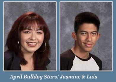 Jasmine and Luis April Students of the Month