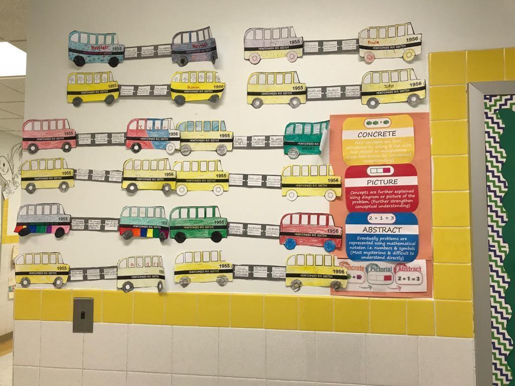 abstract math bus activity display