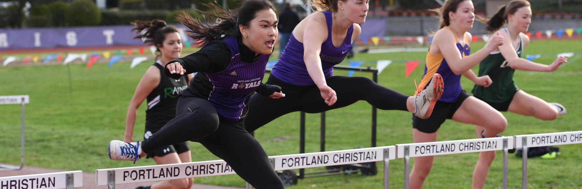 Track - hurdles athlete