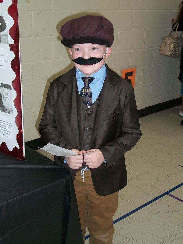 Student presenter at wax museum.