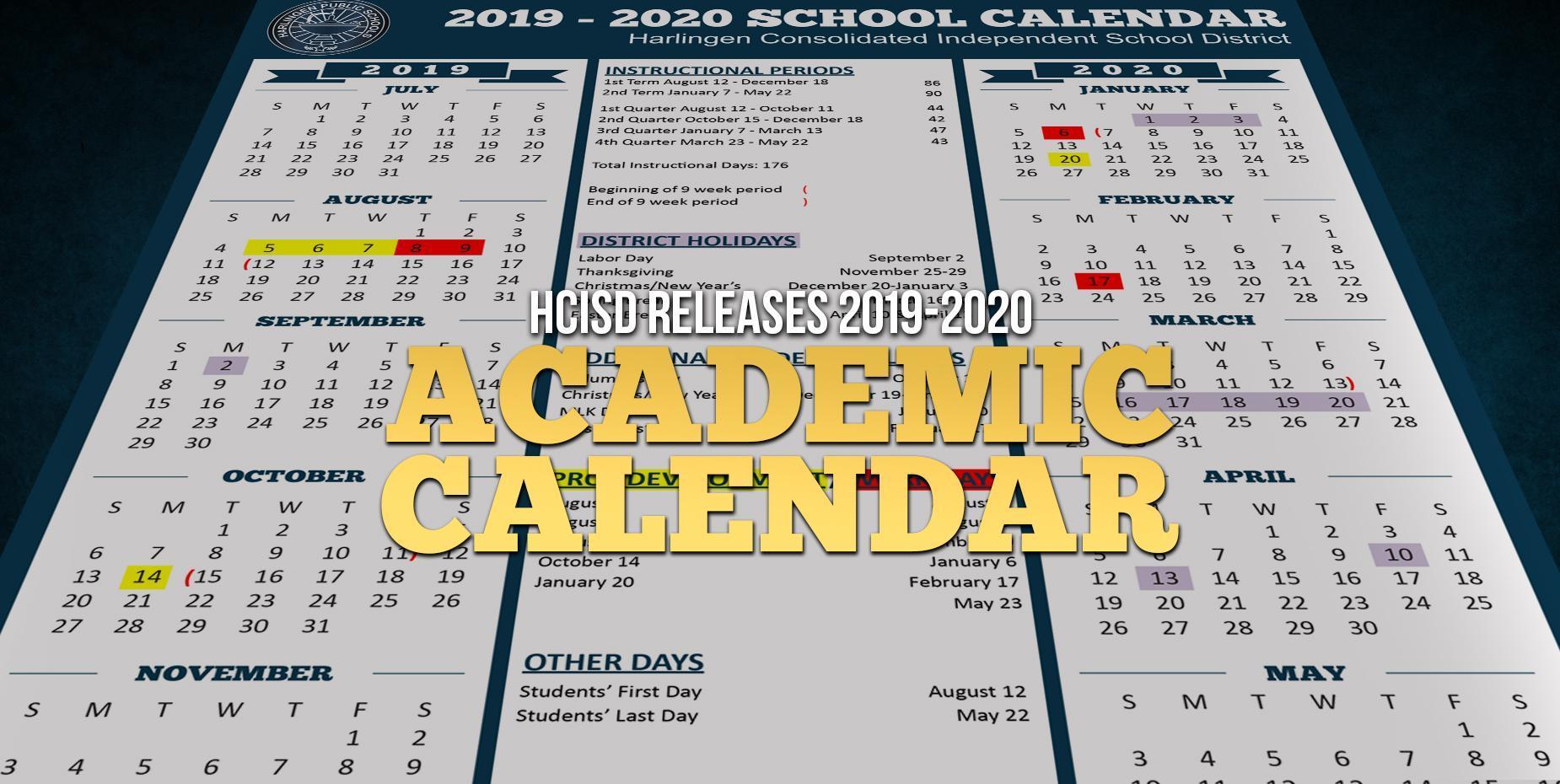 Ecu Academic Calendar 2020 Harlingen Consolidated Independent School District
