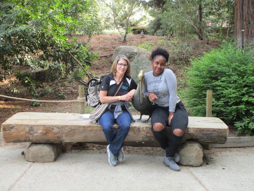 Mrs. Metzler with student at Chaffee Zoo