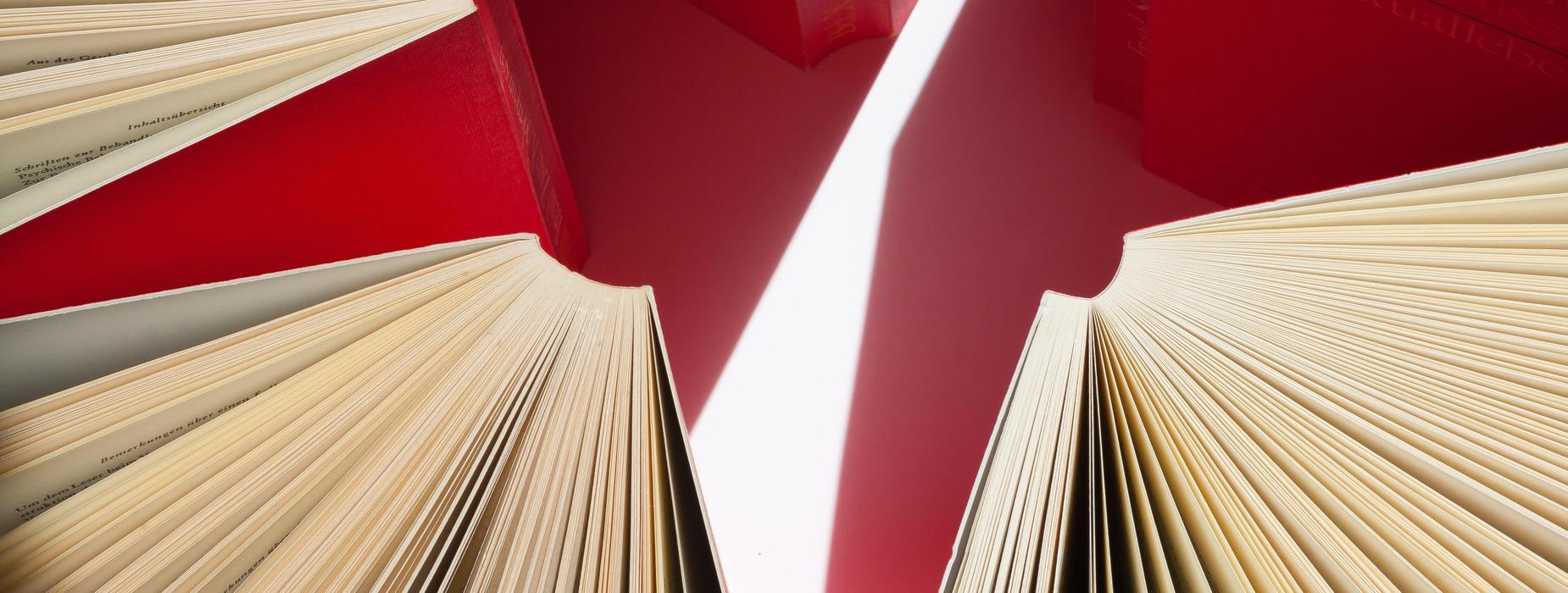Red bound books
