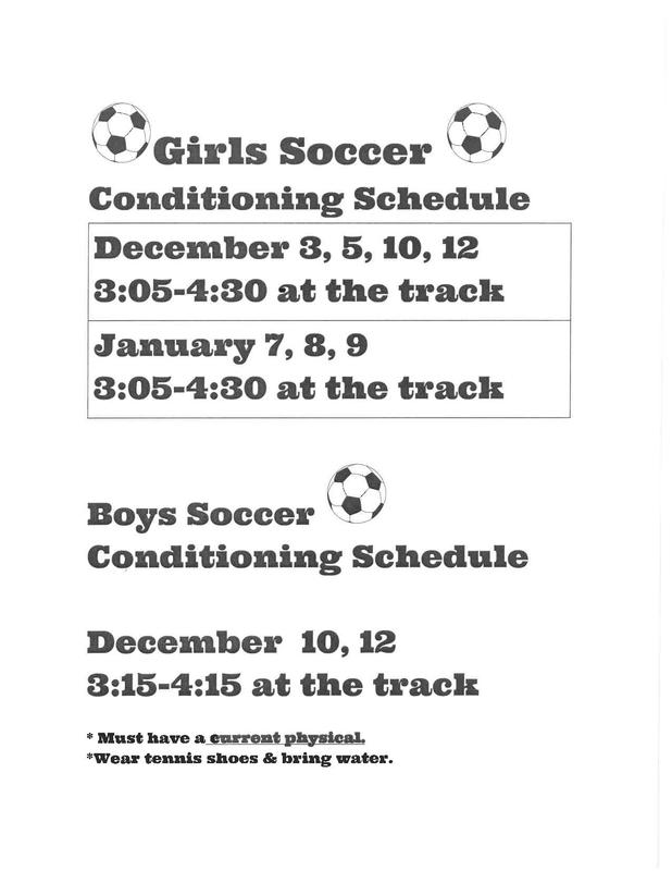 soccer conditioning schedule