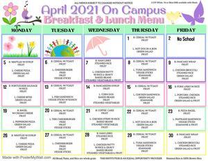 April On Campus Menu