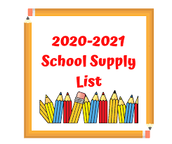 School Supply List 2020-2021 School Year Featured Photo