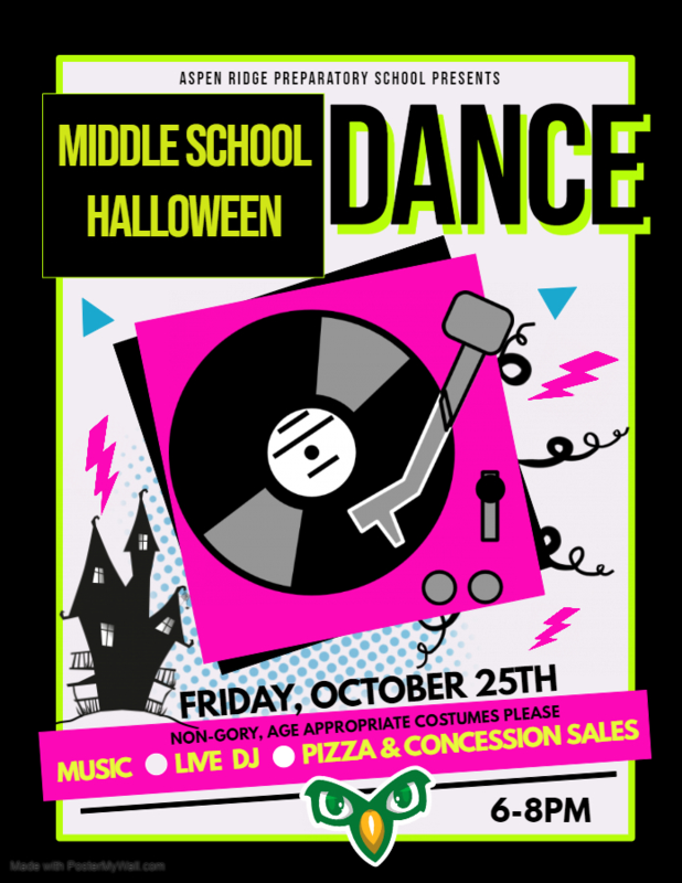 Middle School Dance Flyer