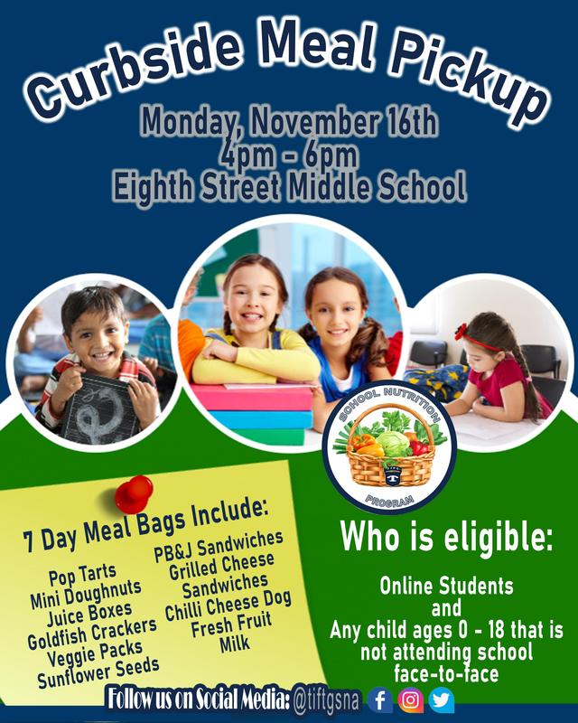 Curbside Meal Pickup for Online Learners Featured Photo