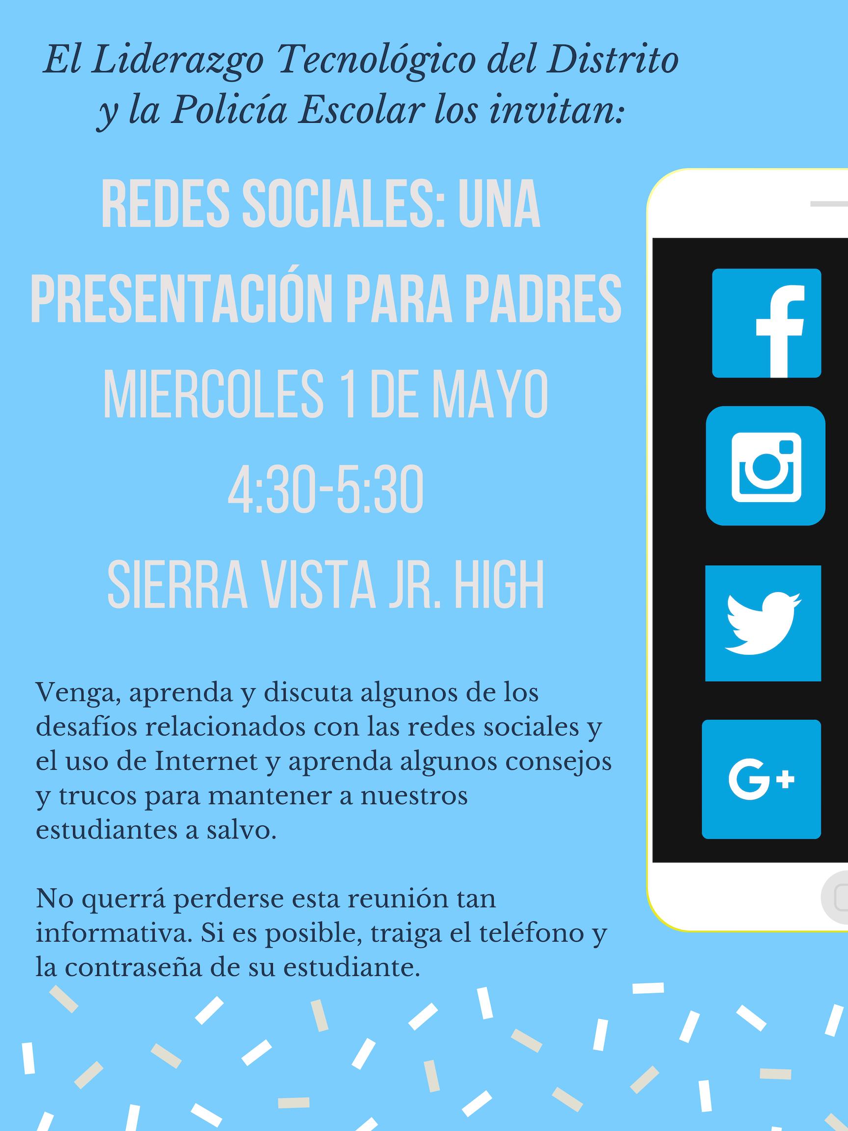 Social Media Flyer Spanish