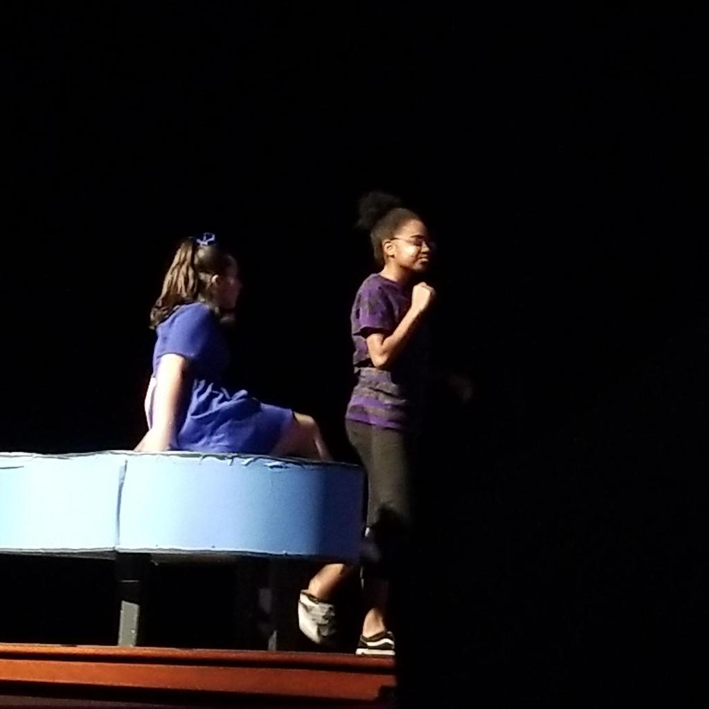 Sally on Top of the piano and schroeder