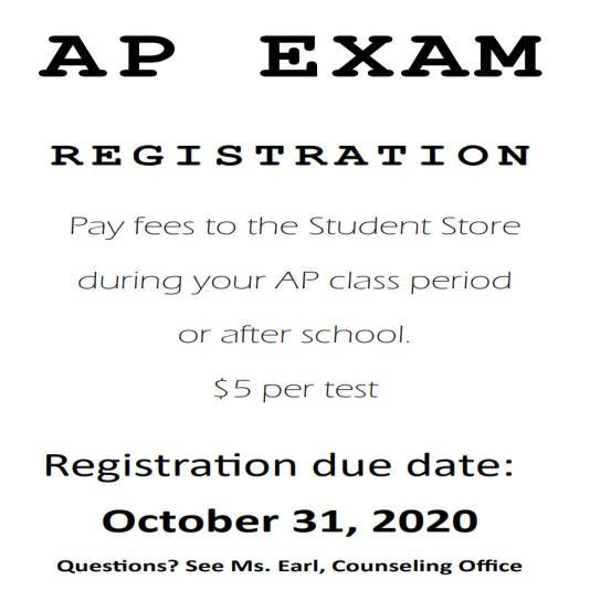Register for AP Tests by October 31 Featured Photo