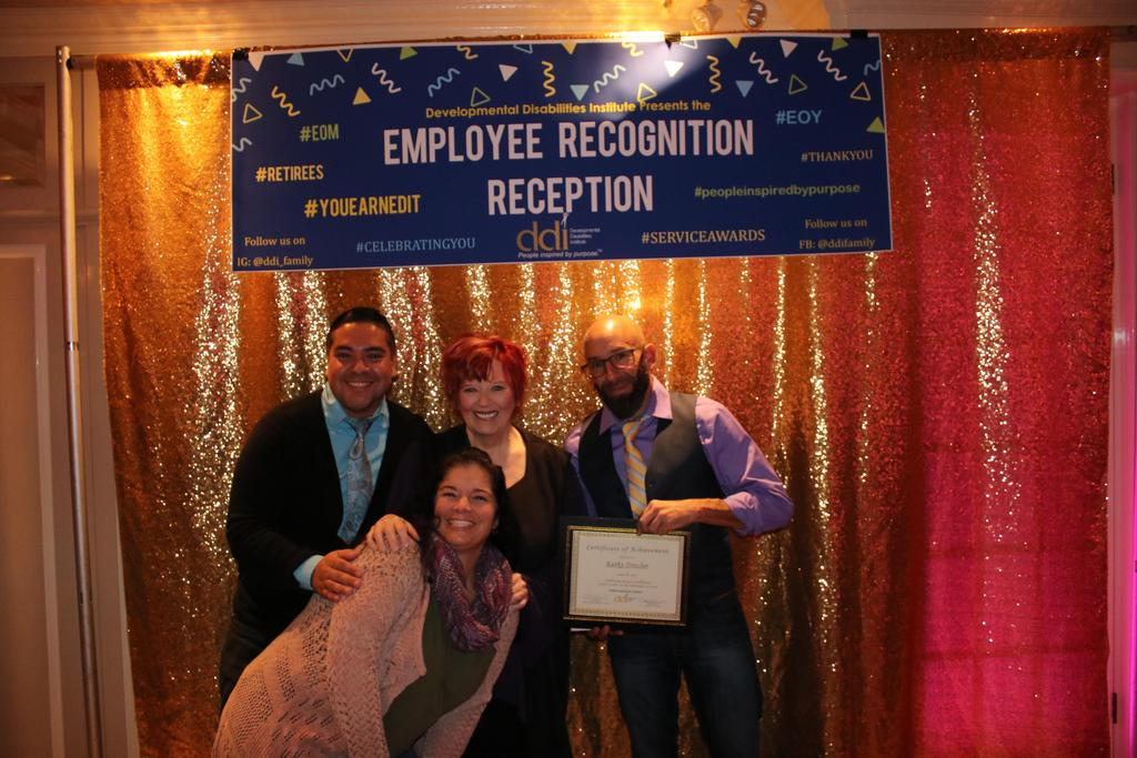 Guests at DDI's 2018 Employee Service Awards with 20-Year Service Award recipient