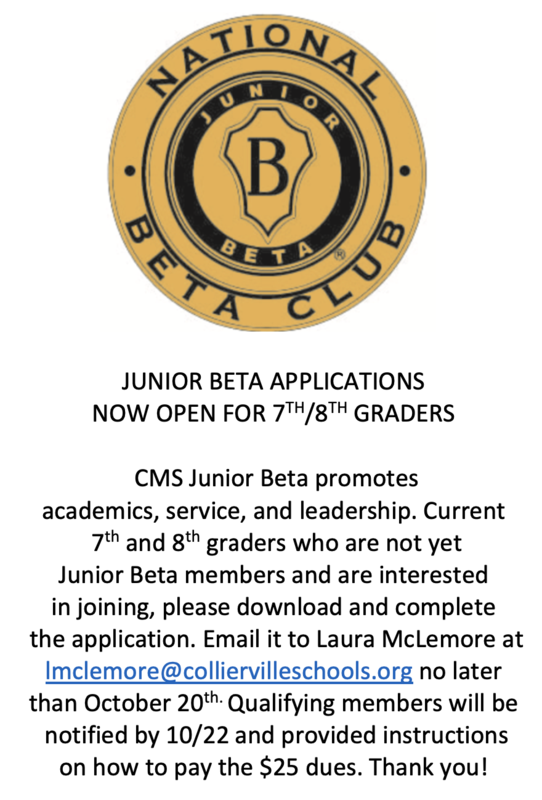 JUNIOR BETA APPLICATIONS NOW OPEN FOR 7TH/8TH GRADERS! Featured Photo