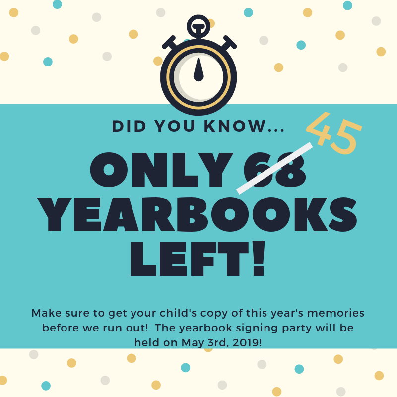 45 yearbooks left