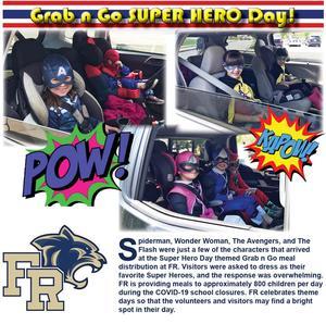 Super Hero Day at the Grab n Go!