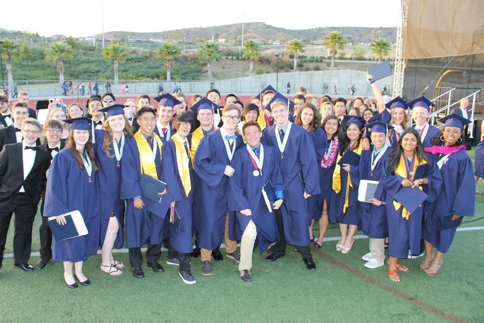 A large group of graduates