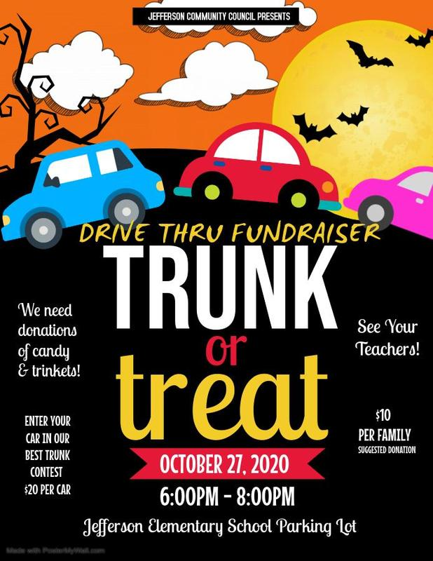 Trunk or Treat is October 27 from 6-8 pm.