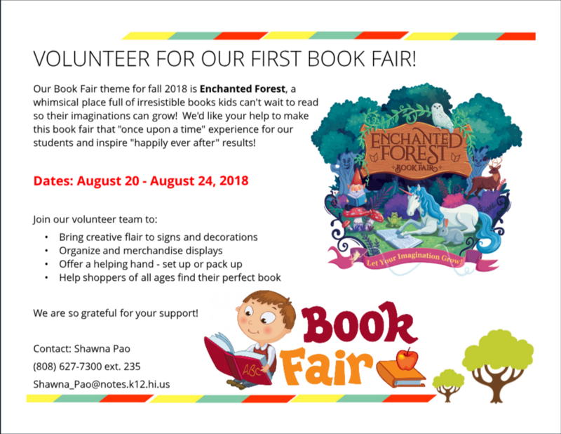 Volunteer for our Book Fair! Featured Photo