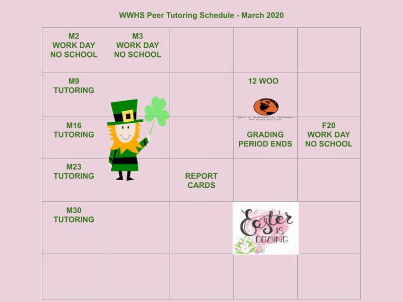 March Peer Tutoring