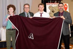 Big A Blanket award winner Mitchell Lawhead